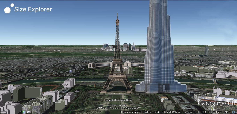 Eiffeltower Vs. Burj Khalifa